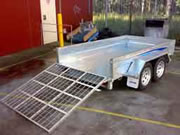 Box trailer loading ramps