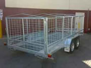 Galvanised trailer cages