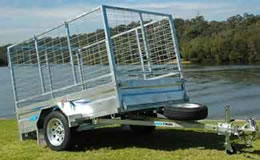 7x5 Box tipper trailer